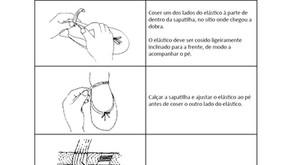 Como coser o elástico nas sapatilhas