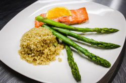 Salmon,Quinoa, Asparagus