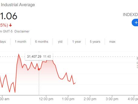 Dow Jones Falls; Disney Stock Dives Despite This; Some Marijuana Stocks Higher