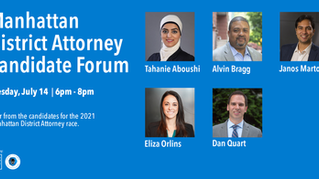 Manhattan DA candidate forum