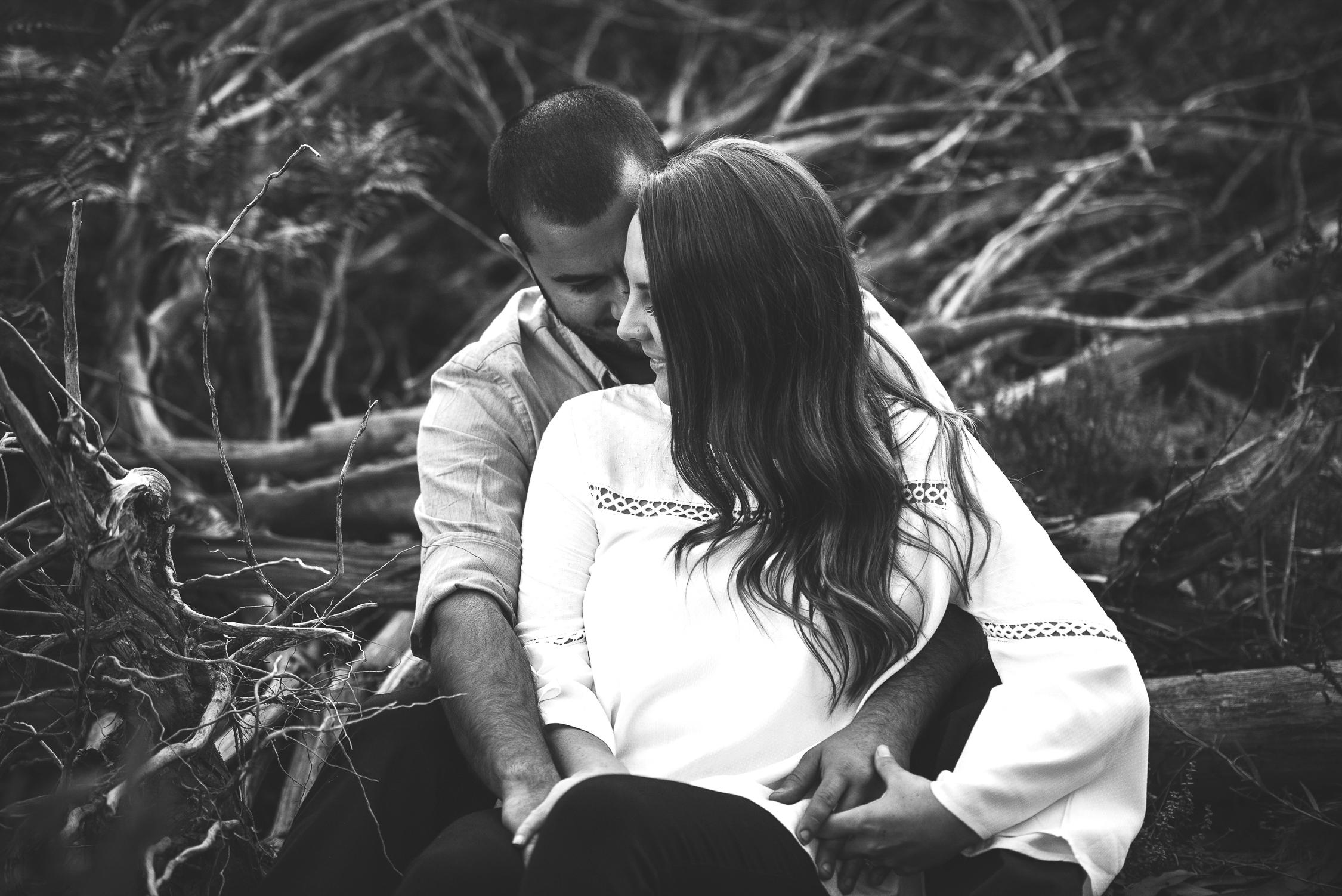 Engagement Photo, B&W