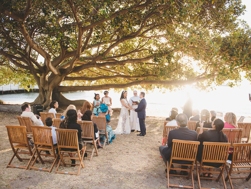 Intimate Sunset Wedding at Dunbar House