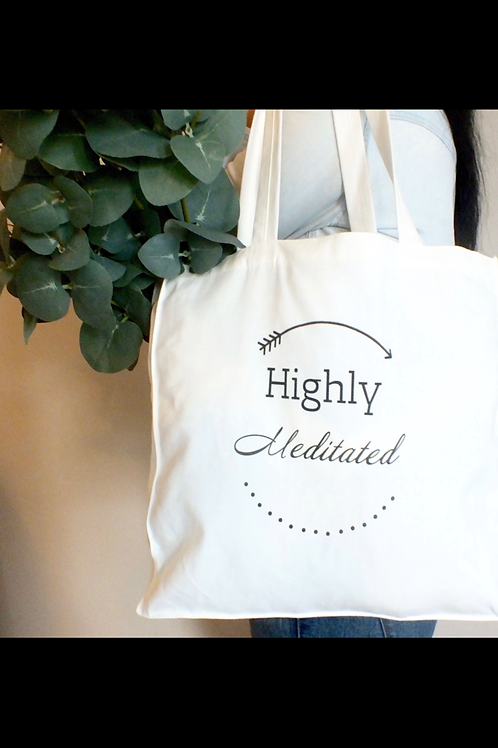 Highly Meditated Canvas Tote