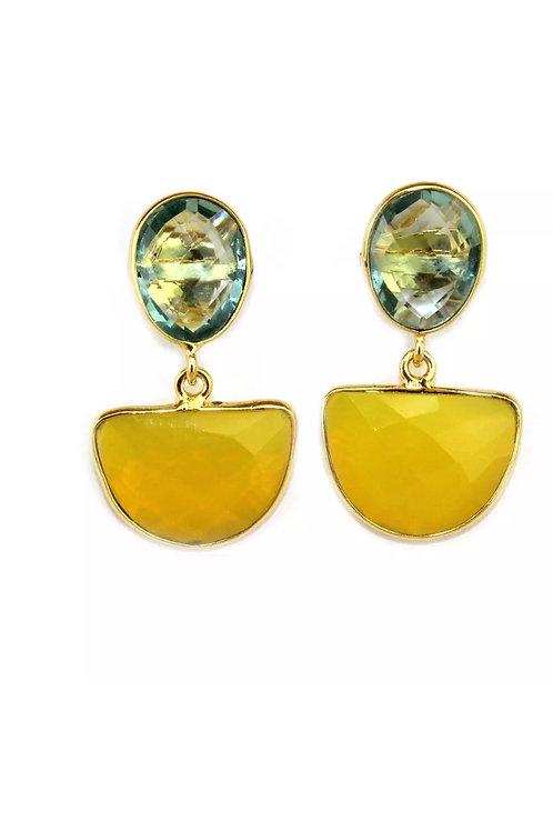 Amaya Drop Earrings - Gold