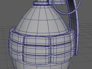 Acorn Bomb Asset Model (A Good Base model in Maya)