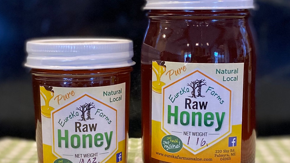 Eureka Farms Pure Raw Honey- 1 lbs (large)