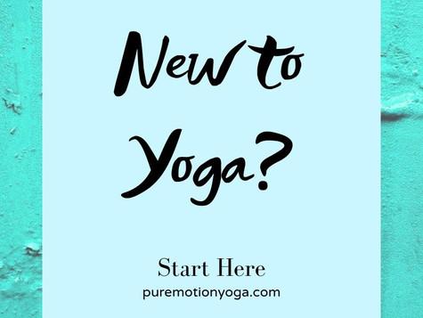 Brand New to Yoga? Start Here
