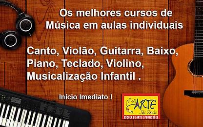 Curso de canto, curso de violão,curso de guitarra, curso de baixo, curso de piano,curso de violino, curso de teclado, curso de musicalização infantil