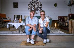 Nicki & Carol at The Cabin