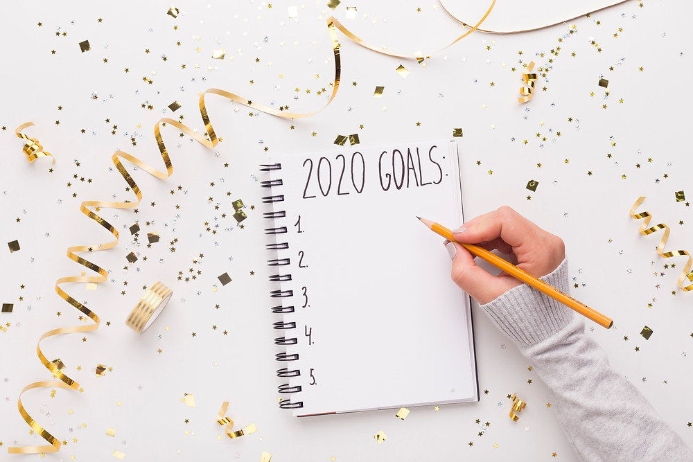 Writing goals for 2020 year