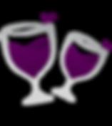 Wine glasses, red wine