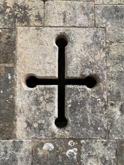 Arrowslit in the abbey walls