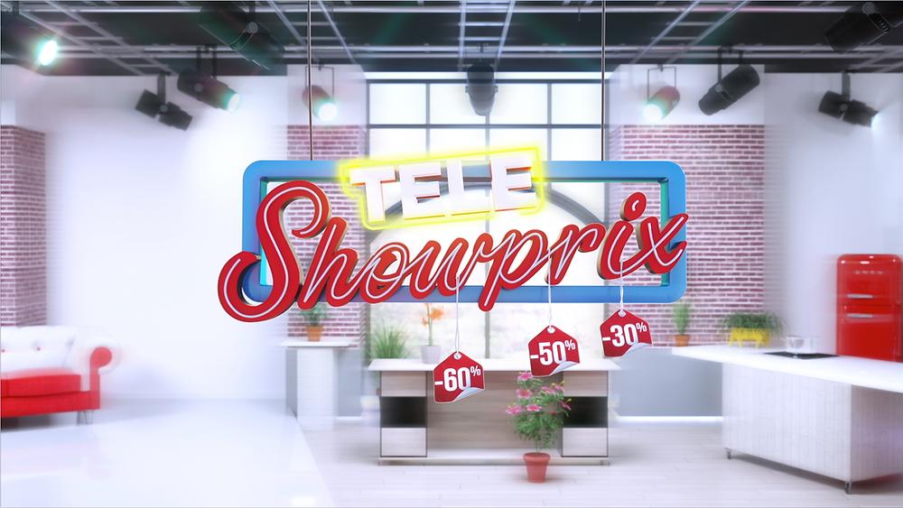 modelisation et animation du logo Teleshowprix