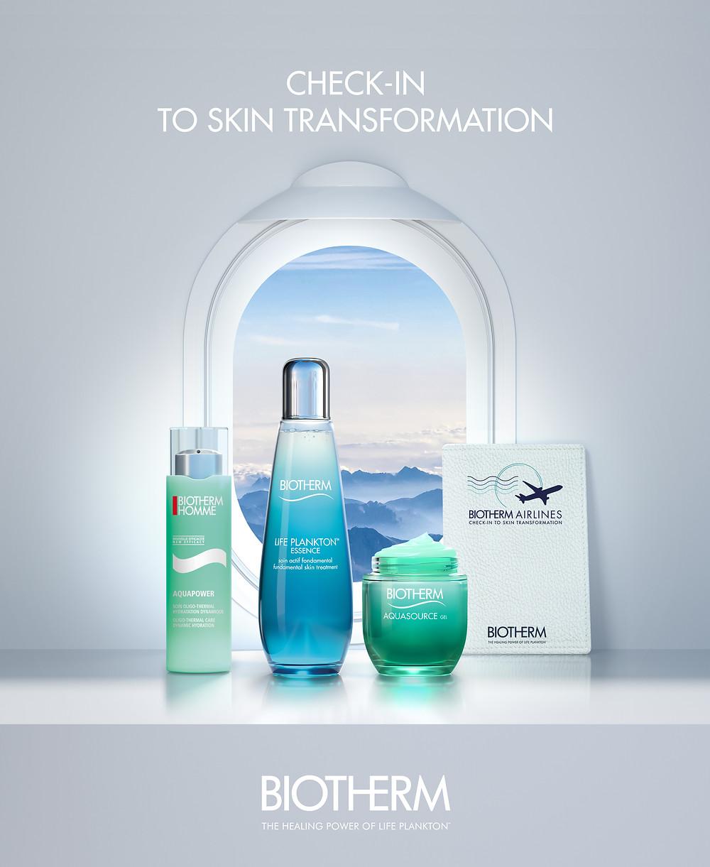 packshot 3D biotherm ,cosmétique