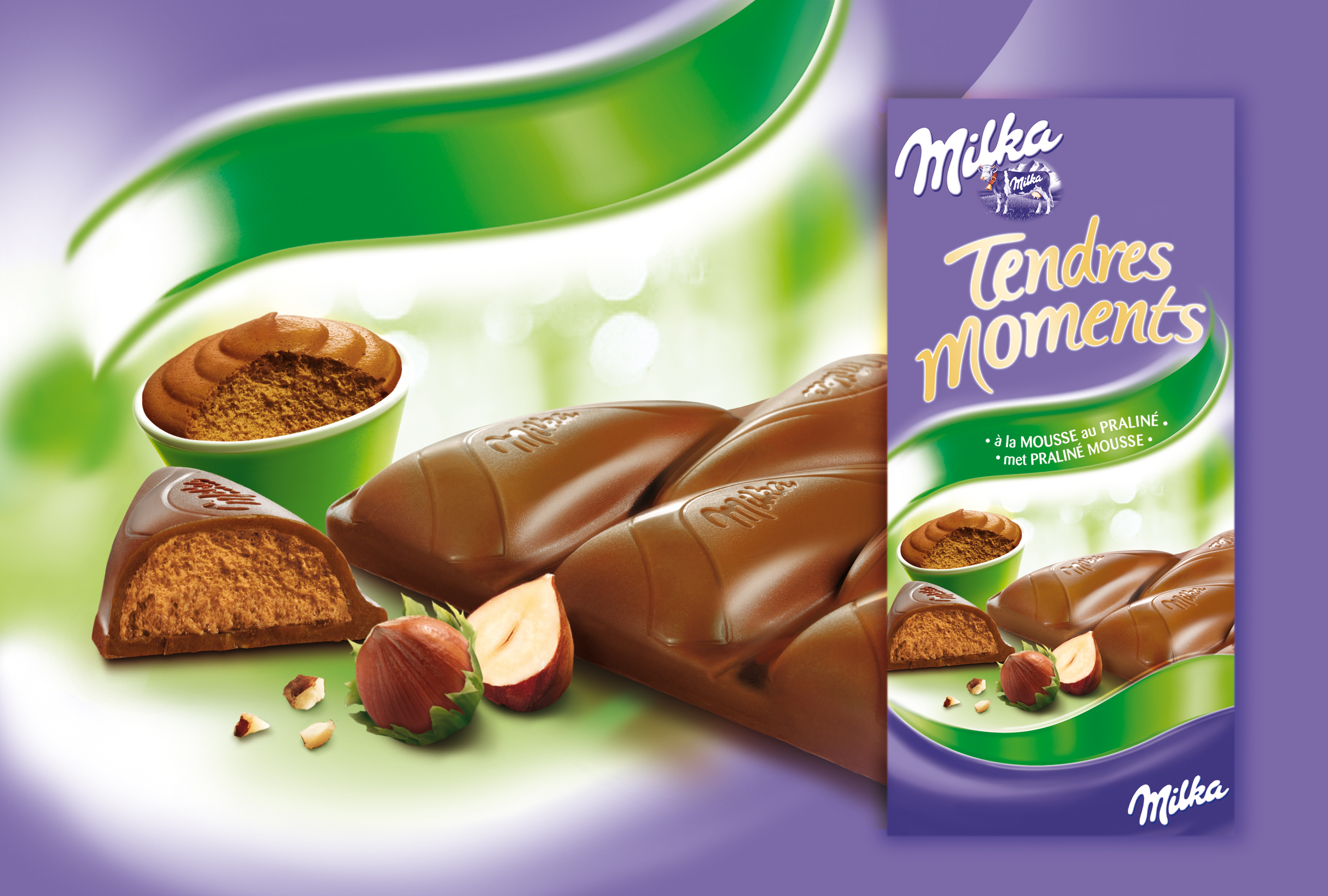 milka Tendres moments Praliné mousse
