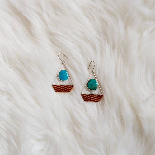Sister of Annie Turquoise + Bead Earrings