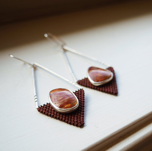 Geometric Jasper Earrings