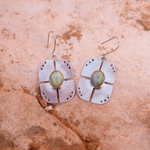 Ripple Earrings in Turquoise I