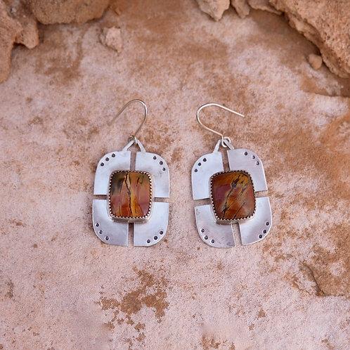 Ripple Earrings in Picasso Jasper II
