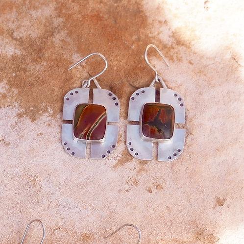 Ripple Earrings in Picasso Jasper I