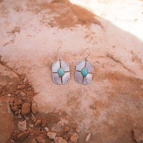 Ripple Earrings in Turquoise II