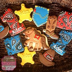 First Birthday Western Cookies
