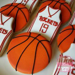 Houston Rockets Basketball Cookies