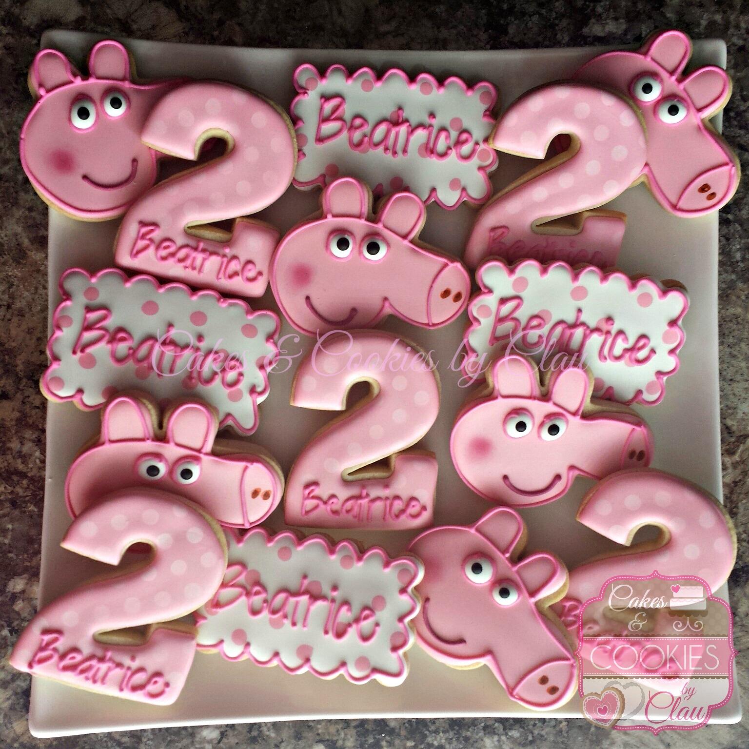 Peppa Pig Birthday Cookies