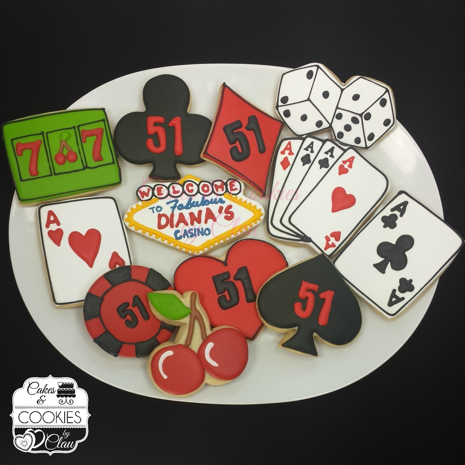 Casino Themed Cookies