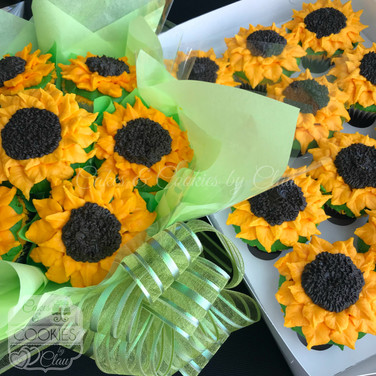 Sunflower Cupcakes & Bouquet