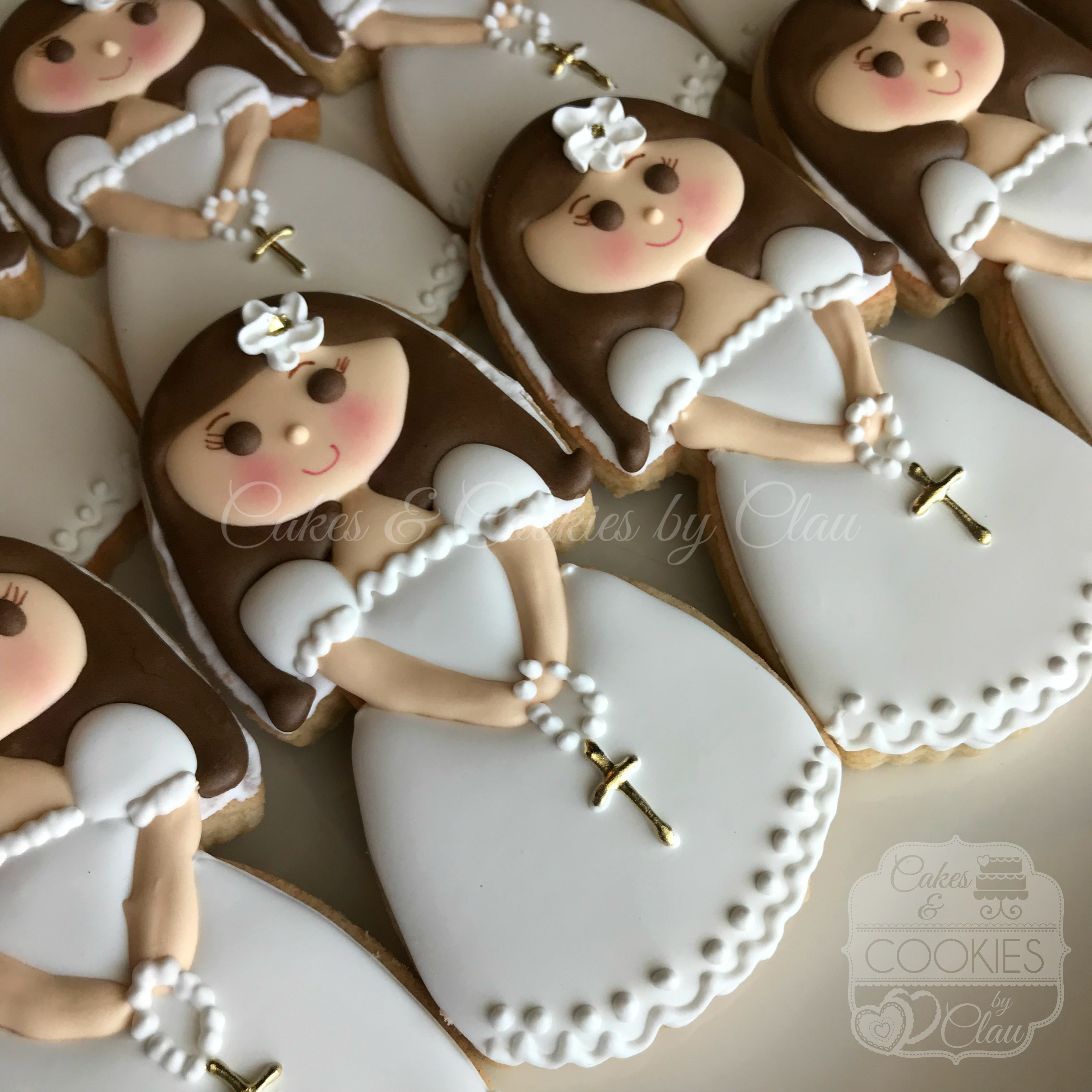 2018 First Communion Girl Gold