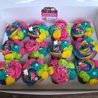Birthday Cupcakes - Neon