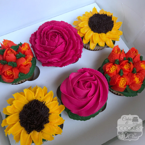 Summer Floral Cupcakes 2