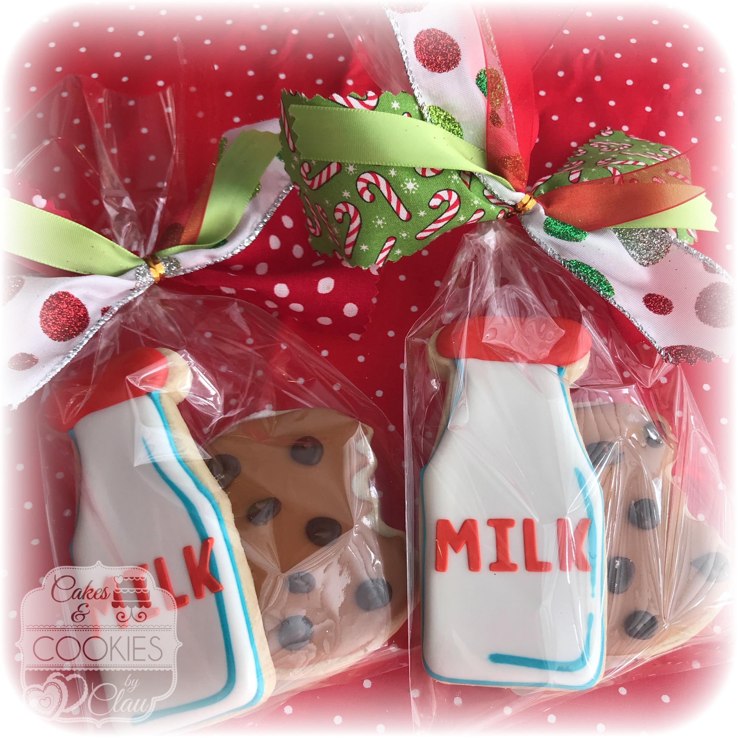 Milk & Cookies for Santa Cookies