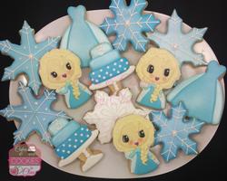 Disney Frozen Themed Cookies