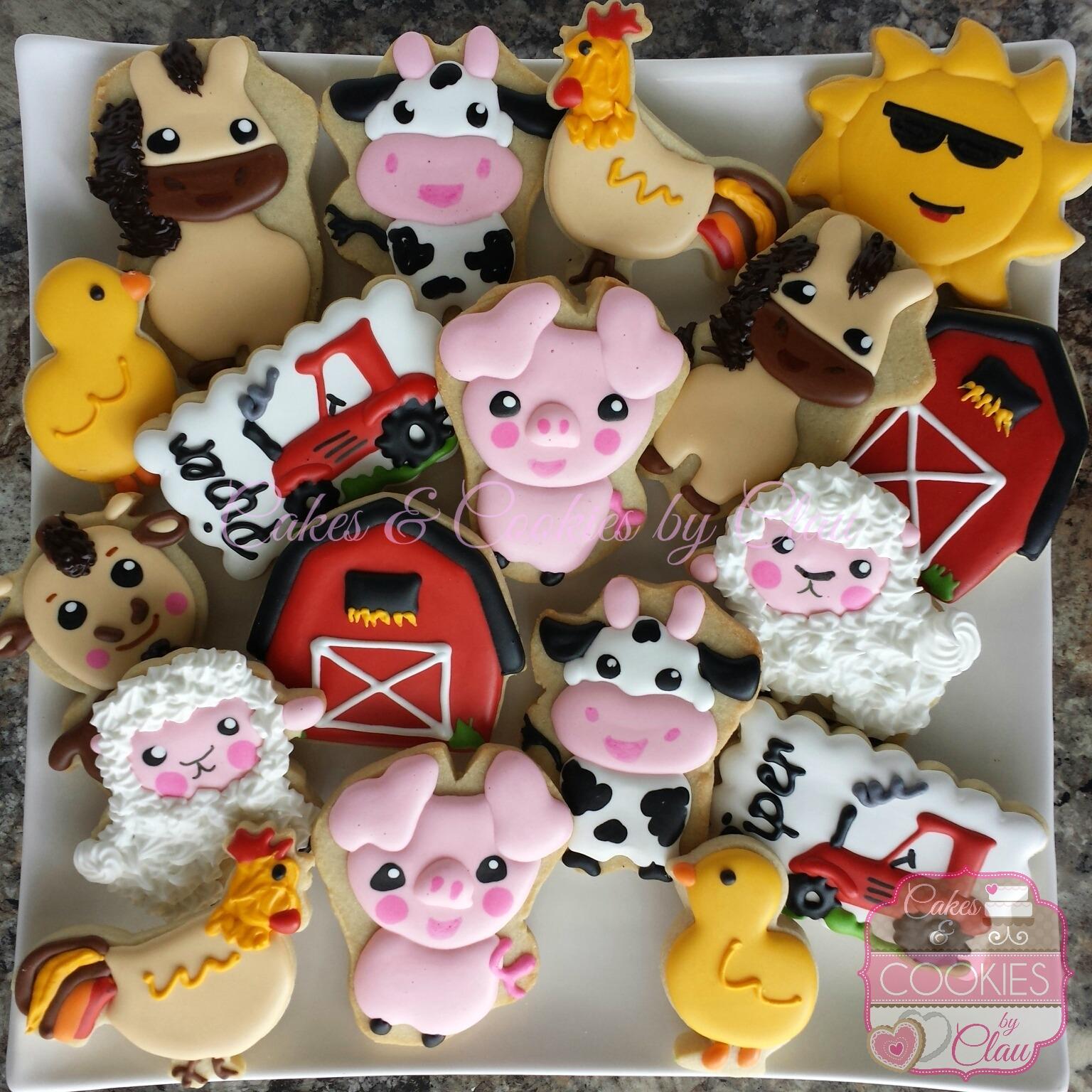 Farm Animals Cookies