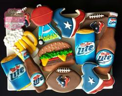 Miller Light Football Cookies