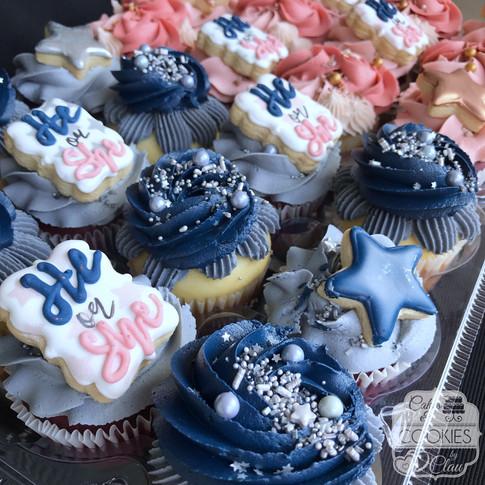 Twinkle Little Star Gender Reveal Cupcakes