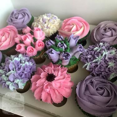 Spring Buttercream Cupcakes