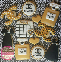 Chanel Bridal Shower Cookies