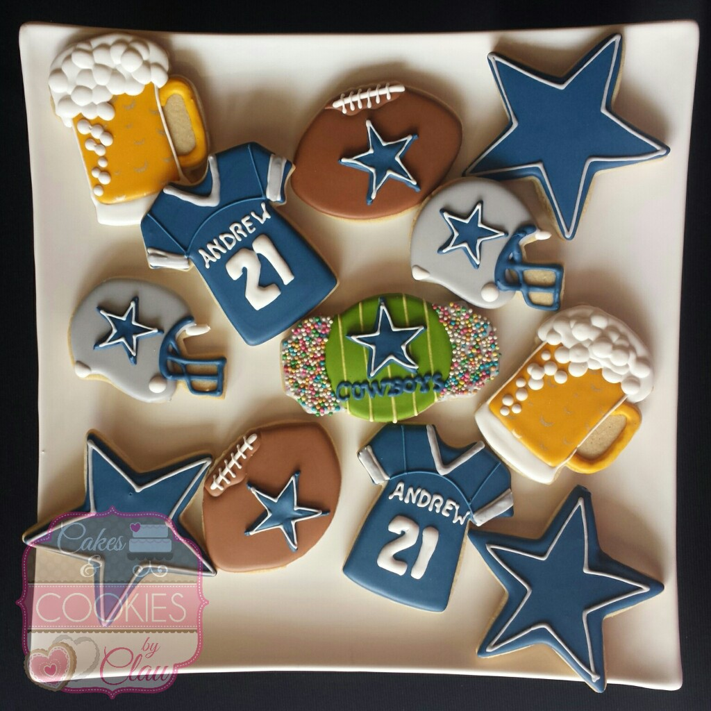 Dallas Cowboys Football Cookies