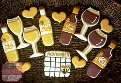 Wine Basket Bachelorette Cookies