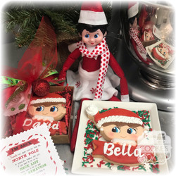 Elf on the Shelf Personalized Cookie