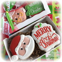 Santa Cookie Gift Box