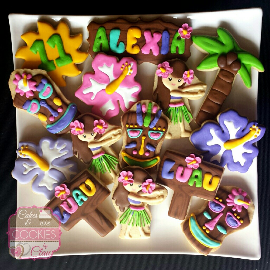 Luau Birthday Cookies