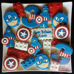 Lego Captain America Cookies
