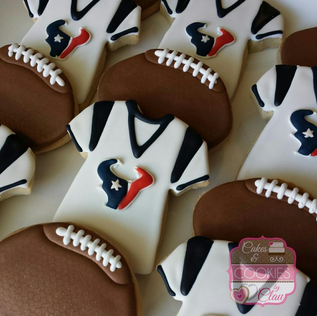 Houston Texans Football Cookies
