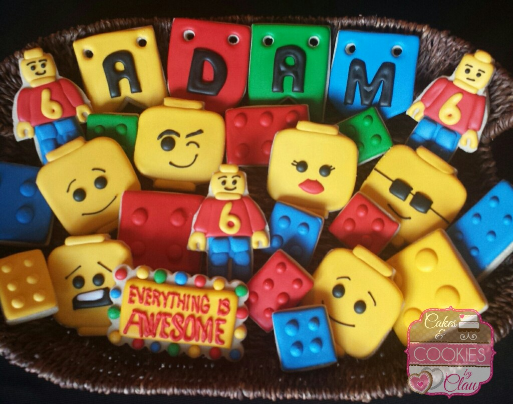 Lego Themed Cookies