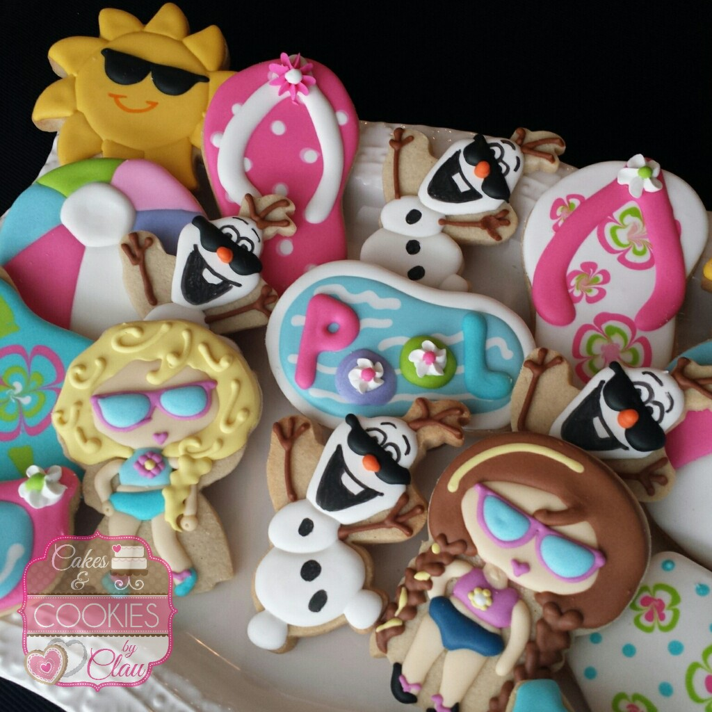 Frozen Pool Party Cookies