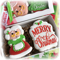 Mrs. Santa Cookie Gift Box